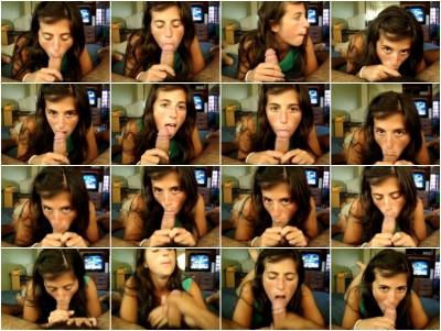 Sweet Argentinian Wife Blowjob Video
