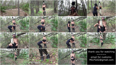 Femdom and Strapon Bondage Fantasies - Ponygirl Punished In The Woods