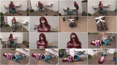 Bound and Gagged - Secretary Andrea Rosu Tied Up and Topless