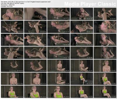 Girl next door in a Cat 5 Hogtied breast suspension