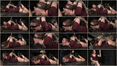 Sexy girl next door Jodi Taylor in a brutal hogtie with multiple orgasms and drooling deepthroat!