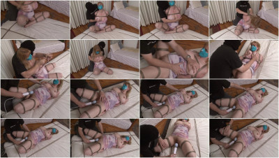 Bound and Gagged - Lorelei is Vibed to Orgasm on the Mattress