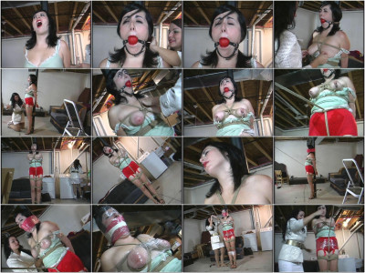 This clip ends before I take the ballgag out of Dixie's mouth