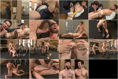 Hot Gym Stud Tormented and Fucked by the Creepy Handyman