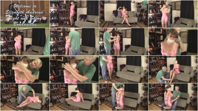 Elizabeth Andrews Bound In A Shiny Pink Girdle (2015)