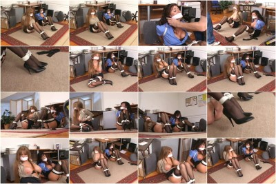 bdsm Bound and Gagged - Office Trouble Part 2 - Darla Crane and Ariella Ferrera