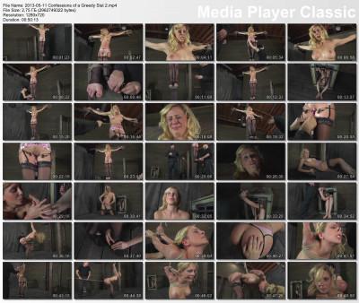 Beautiful female body in super torture