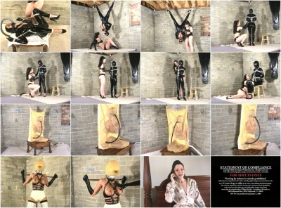 Devonshire — DP — 315B — Exotic Latex Bondage & Rubber Encasement 13 - Brandy, Simone Devon