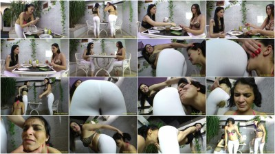 White Scat Pants - 2 Domina 1 Slave [Full HD-1080p]