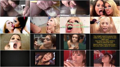 juice a glass of sperm girls
