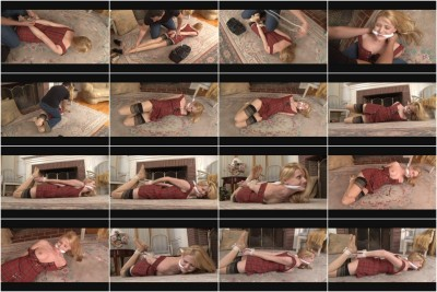 Bound and Gagged - Cute Student Hogtied by Burglar - Carli Banks