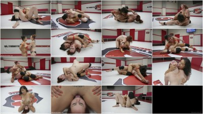 Beautiful big Tittied Wrestlers Struggle to make each other cum
