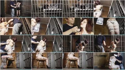 Smalltown Jail - Rinn Hogcuffed, F to Excerise, then Hogtied - Part 1