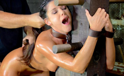 deep one (Stunning MILF India Summer belted down to a post and bred, 10 inch BBC and creampies! HD 720p).