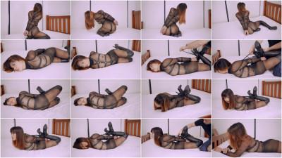 Black Pantyhose Hogtie