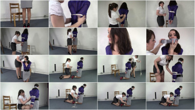 Belle Davis And Elizabeth Andrews Tightly Tied Belle Tries To Free Herself (2015)