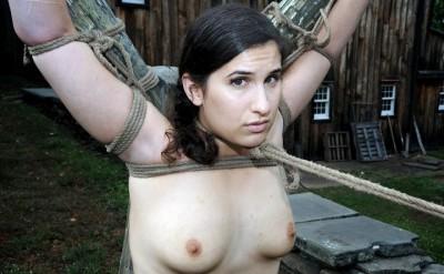 Extremely tight rope bondage