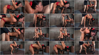bdsm London River Struggles In Bondage While Being Sex, Swallowing Cock and Cumming