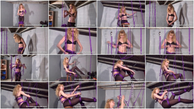 After her painful nipple torment she decides to do a self bondage suspension (2013)
