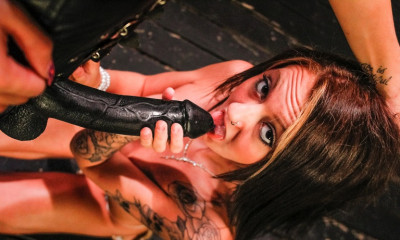 The cute and sexy Marina Angel in hot BDSM
