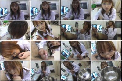 Asian nurse gives BJ