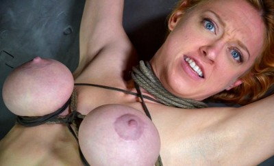 Tickle torture, nipple clamps, pussy flogging for hot Penny