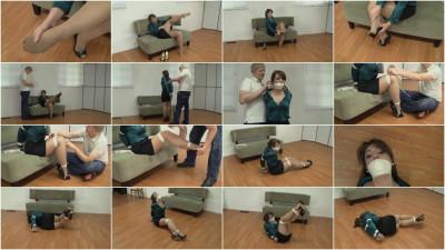 Elizabeth Andrews Bound Pantyhose Tease (2015)