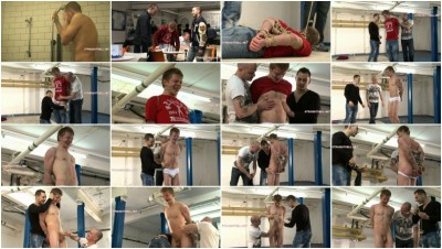 Bryan4-l - Hogtied, invasively groped, nipple tweaking, stomach punching, flogged