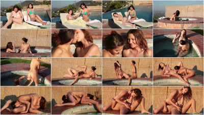 Ellena Woods, Nina North - Drowning In Her Flower FullHD 1080p