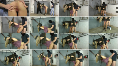 Extreme Bondage - Domination & Rough Sex with Cute Girl in Garage