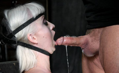 Queen of throat blow job in BDSM