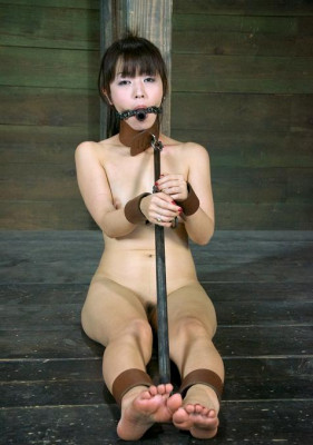 Japanese charm in a sexual bondage