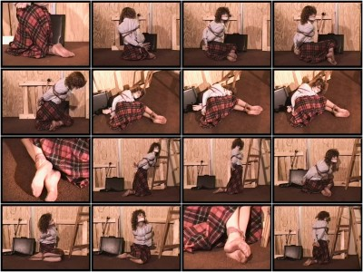 Bound and Gagged - The Money Pit Scene 1 - Lorelei is menaced by Whitney Prescott