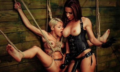 Marsha May Endures Lesbian Rope Bondage with Kylie Rogue