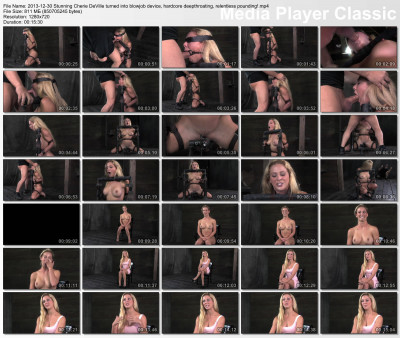bdsm Stunning Cherie DeVille turned into blowjob device, hardcore deepthroating