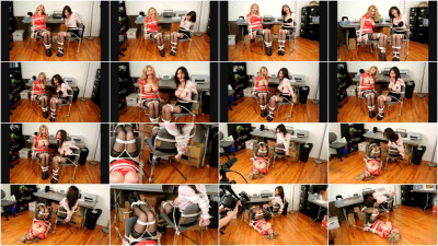bdsm Bound and Gagged - Big-Tit Secretaries in Bondage - Behind the Scenes