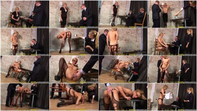 Humiliating Long-Haired Blonde Olga Totally Undressed