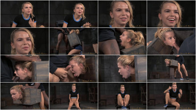 Blue eyed blonde Alina West bolted into a wooden box and roughly fucked (2015)