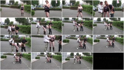 Pregnant fucked on the sidewalk