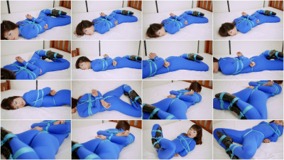 Blue Catsuit Bound
