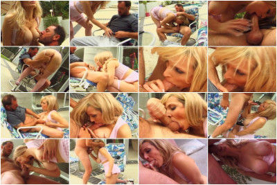 Busty Blond Randi Storm Swallows A Dick