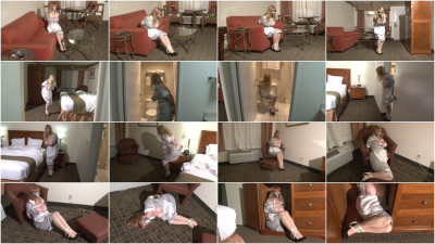 Bound and Gagged - Big-Boob Hotel Maid Lorelei Hopping in Bondage