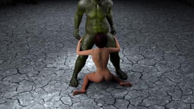 Green Shrek penis in me