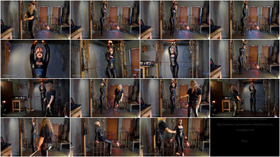 bdsm Sensualpain - Jun 13, 2016 - Black Lipstick in Catsuit and Ballerina Heel Trainers - Abigail Dupree