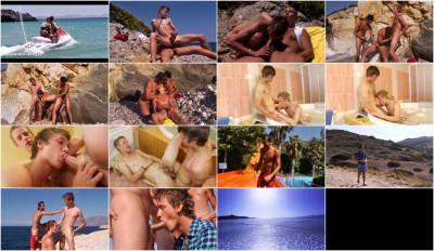 Beach-boys in orgy