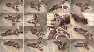 bdsm Bound and Gagged - Odette Delacroix Orgasm-Bound in Shiny Spandex Zentai Suit