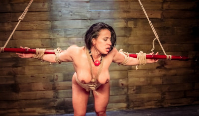 Meaty clit in bdsm action