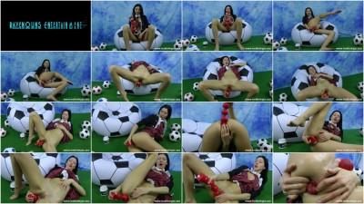 Soccer girl anal fun