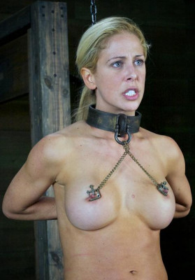 Hot blonde in a depraved BDSM