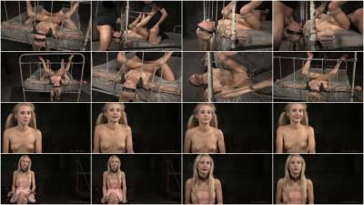 Thin blindfolded blonde Odette Delacroix